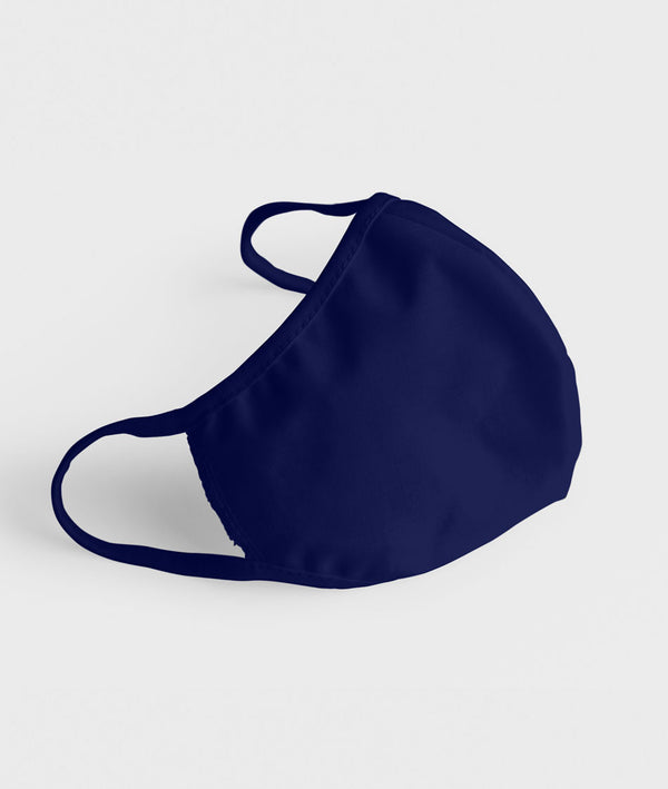 Cotton face mask - Navy Blue - Alloons.com