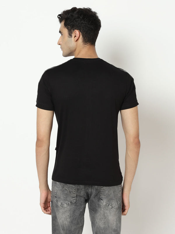 Nio Striped - T-shirt Black