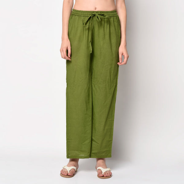 Olive green kurti pant set by Viraahi