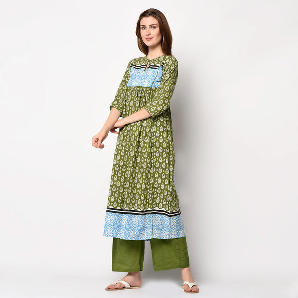 Cotton Kurti set with top and bottom
