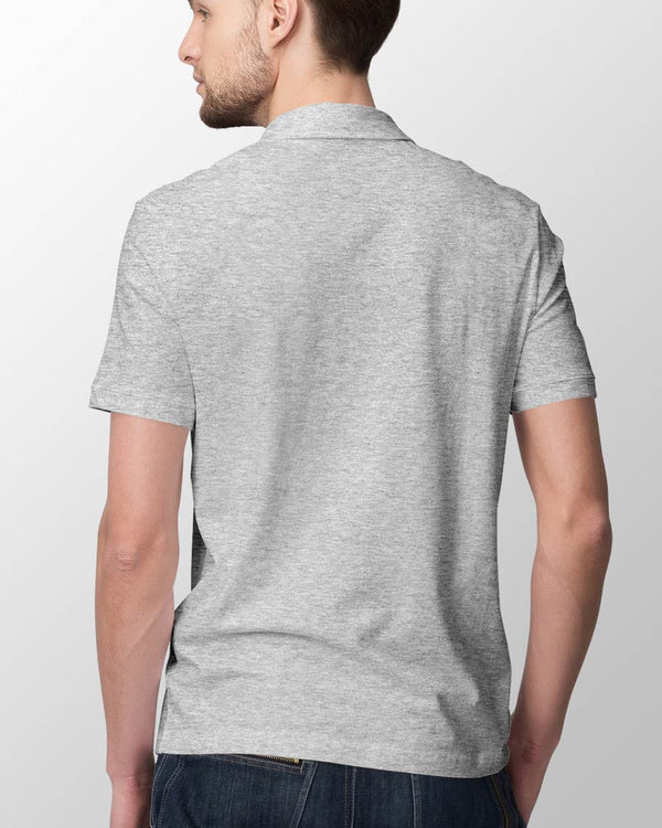 Men's Polo - Grey Melange