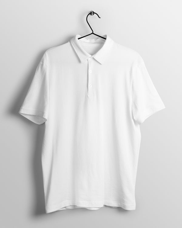 Men's Polo - White