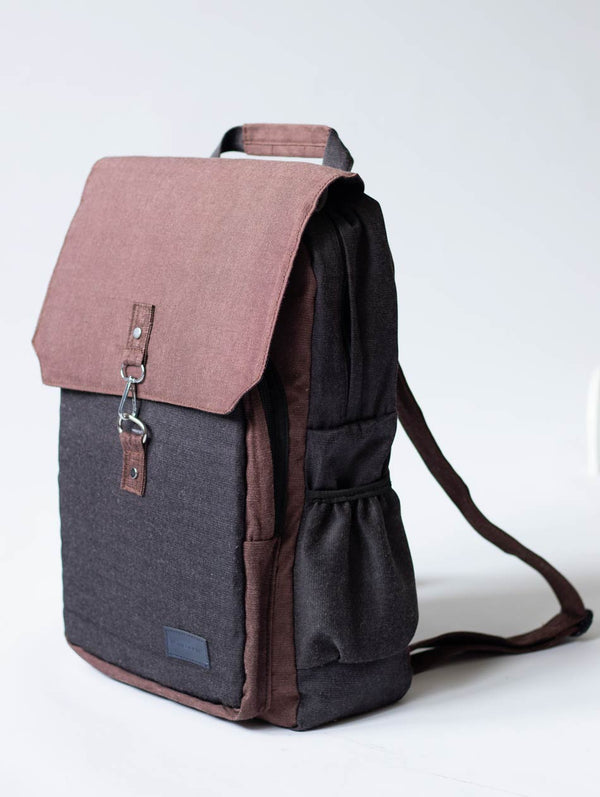 Tecce Explorer Backpack - Walnut/Charcoal