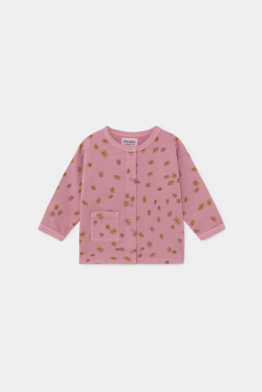 BOBO CHOSES BABY BUTTON SWEATSHIRT - ALL OVER DAISY