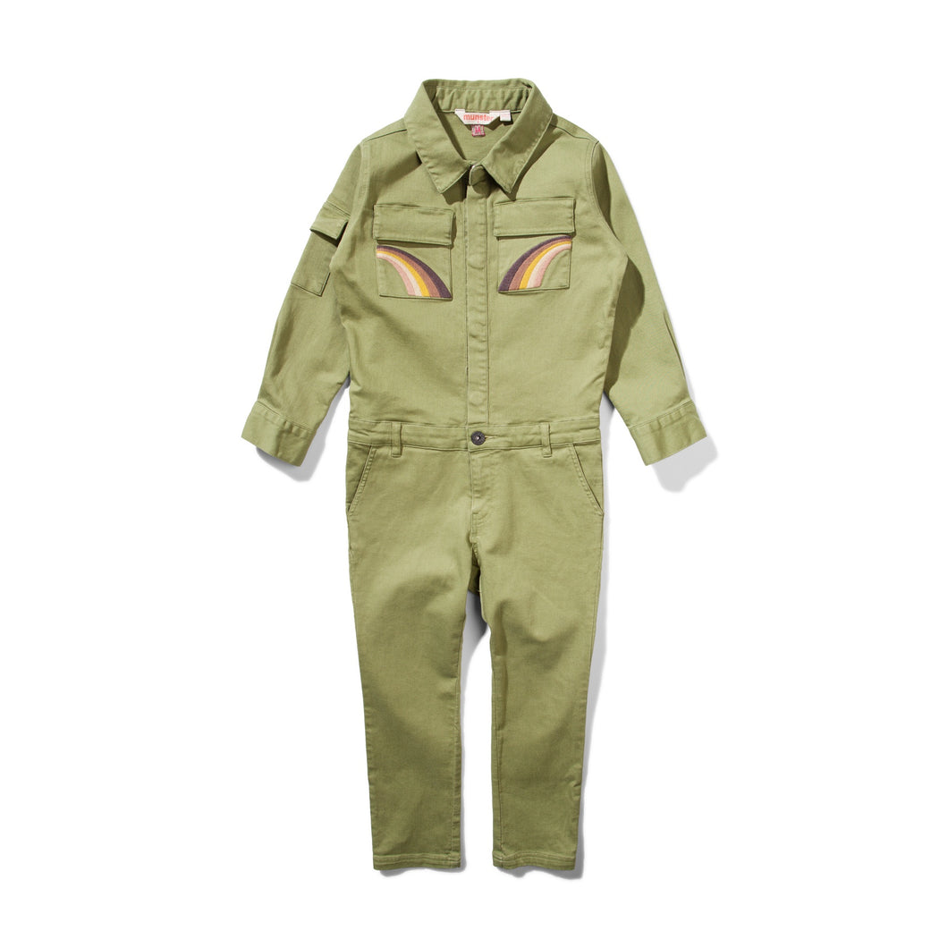 MISSIE MUNSTER PRIDE AND POWER JUMPSUIT - MOSS GREEN