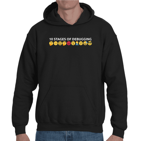 Hooded Sweatshirt 10 stages of debugging - Sheepbay