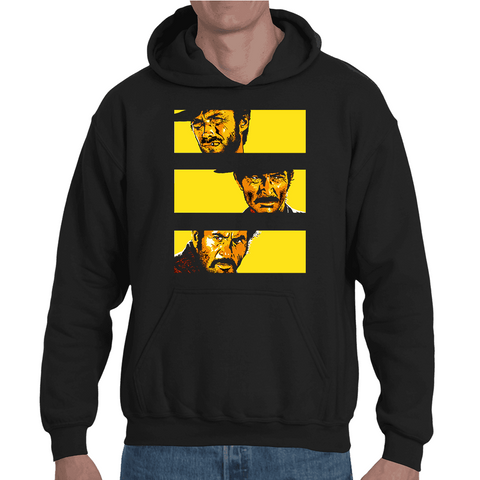 Hooded Sweatshirt The Good The Bad And The Ugly Poster - Sheepbay