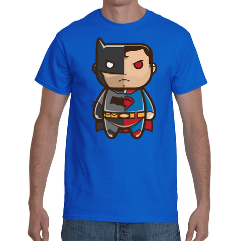T-shirt Batman/Superman Cartoon - Sheepbay