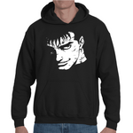 Hooded Sweatshirt Berserk Guts Face - Sheepbay