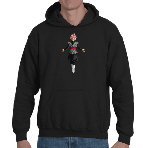 Hooded Sweatshirt Dragon Ball Super - Black Goku Rose - Sheepbay
