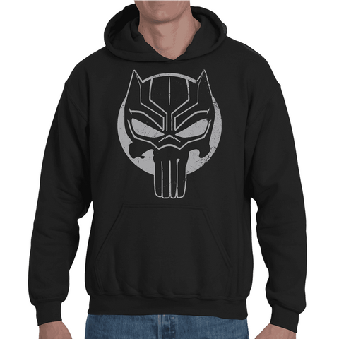 Hooded Sweatshirt Black Panther Punisher - Sheepbay