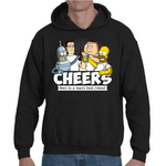 Hooded Sweatshirt Cartoon Cheers - Sheepbay