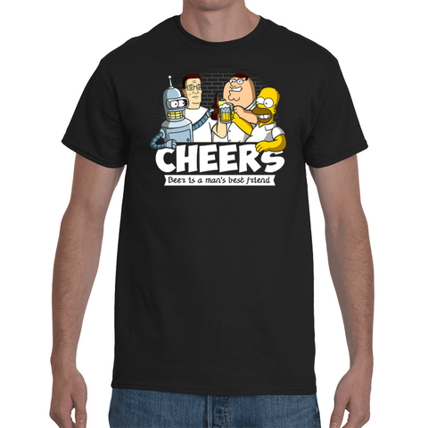 T-shirt Cartoon Cheers - Sheepbay