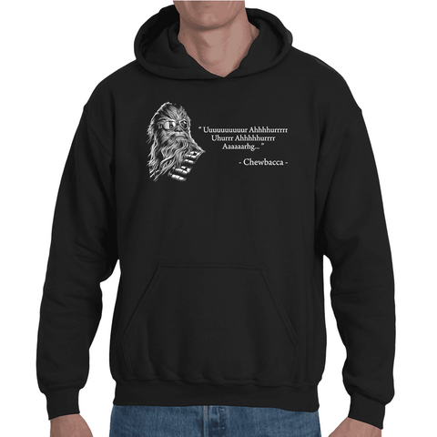 Hooded Sweatshirt Chewbacca quote - Sheepbay