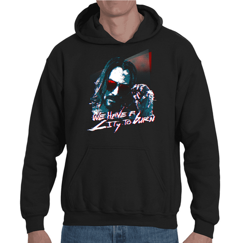 Hooded Sweatshirt Cyberpunk 2077 - Keanu Reeves - Sheepbay