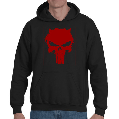 Hooded Sweatshirt Punisher parody Daredevil - Sheepbay