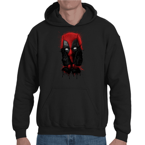 Hooded Sweatshirt Deadpool Face - Sheepbay