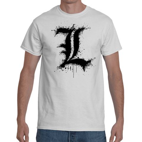 T-shirt Death Note L Logo - Sheepbay
