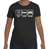 T-shirt Eat Sleep Game - Sheepbay