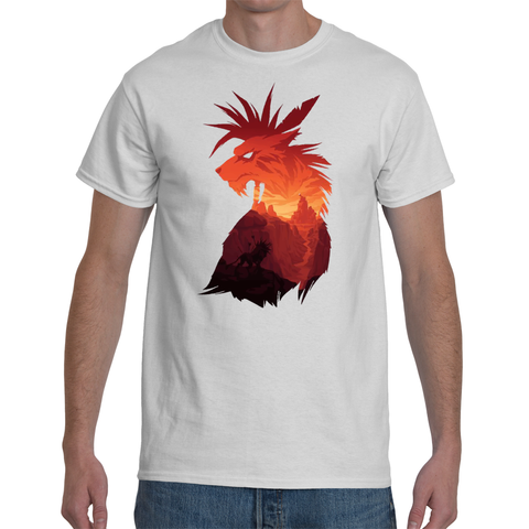T-shirt Final Fantasy 7 Red XIII Artwork - Sheepbay