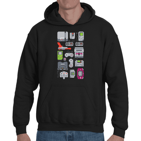 Hooded Sweatshirt Gamepads Retro Gaming - Sheepbay