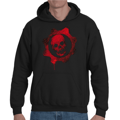 Hooded Sweatshirt Gears Of War Logo - Sheepbay