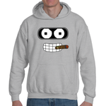 Hooded Sweatshirt Futurama Bender Cigar - Sheepbay