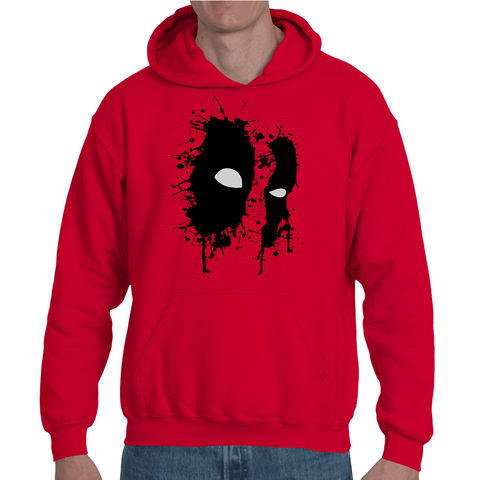 Hooded Sweatshirt Deadpool Face Artwork - Sheepbay