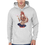 Hooded Sweatshirt Doki Doki Literature Club - Just Monika - Sheepbay