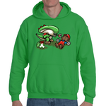 Hooded Sweatshirt Super Mario parody Alien - Sheepbay