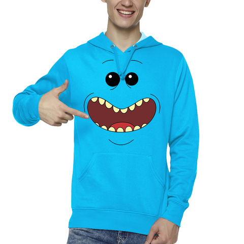 Hooded Sweatshirt Mr Meeseeks Face - Sheepbay