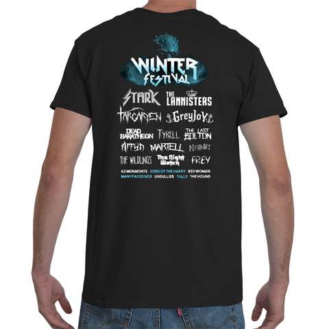 T-shirt Game of Thrones Winter Festival back cover - Sheepbay