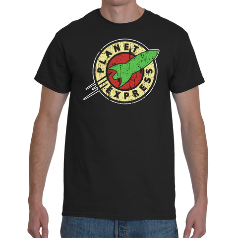 T-shirt Futurama Planet Express Vintage Logo - Sheepbay