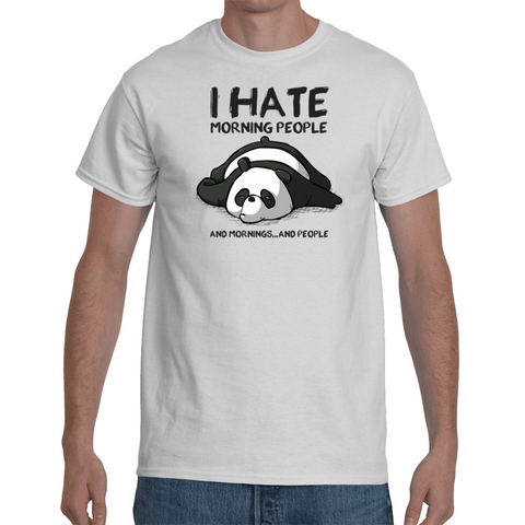 T-shirt Panda - I hate Morning People
