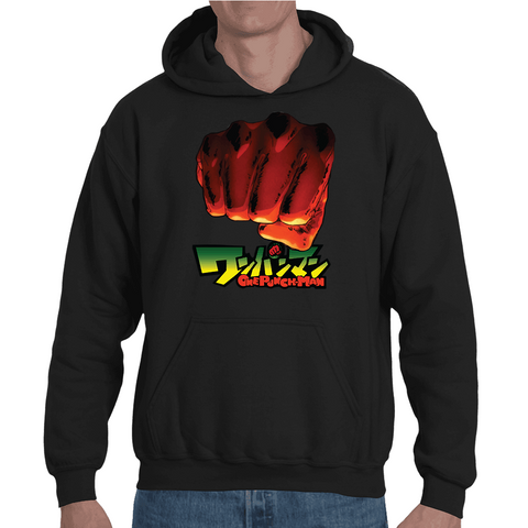 Hooded Sweatshirt One Punch Man Fist - Sheepbay