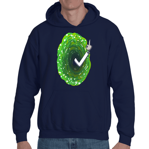 Hooded Sweatshirt RICK & MORTY - PORTAL F*CK YOU - Sheepbay