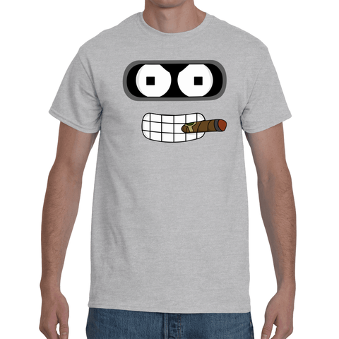 T-shirt Futurama Bender Cigar - Sheepbay