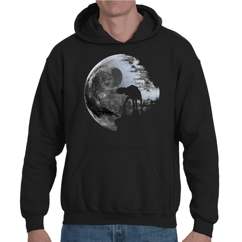 Hooded Sweatshirt Star Wars Death Star Moon - Sheepbay