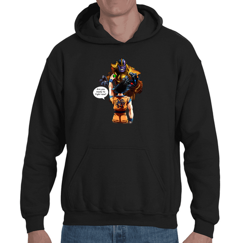 Hooded Sweatshirt Dragon Ball - Goku vs Thanos - Sheepbay