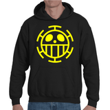 Hooded Sweatshirt One Piece Trafalgar Law Logo - Sheepbay