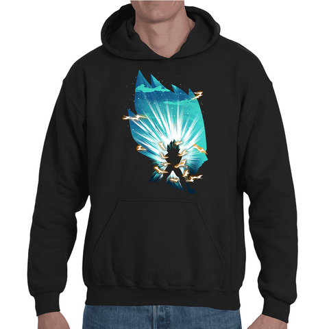 Hooded Sweatshirt Dragon Ball Vegeta Final Flash Artwork - Sheepbay