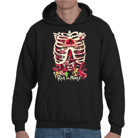 Hooded Sweatshirt Rick & Morty - Anatomy Park - Sheepbay
