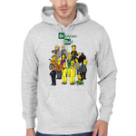 Hooded Sweatshirt Breaking Bad parody Simpsons - Sheepbay