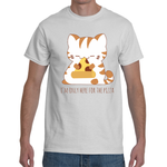 T-shirt Cat only here for pizza - Sheepbay