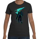 T-shirt Final Fantasy 7 Cloud Shadow Artwork - Sheepbay