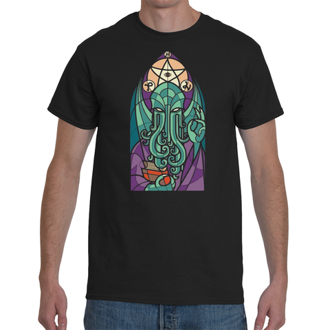 T-shirt Cthulhu stained glass - Sheepbay