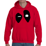 Hooded Sweatshirt Deadpool Eyes - Sheepbay