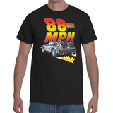 T-shirt Back To The Future Delorean 88MPH - Sheepbay