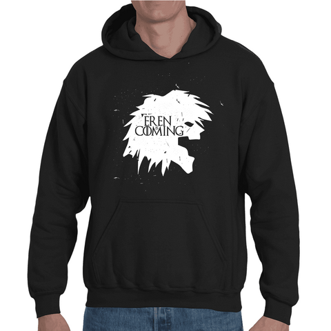 Hooded Sweatshirt Attack On Titan Eren is Coming - Sheepbay