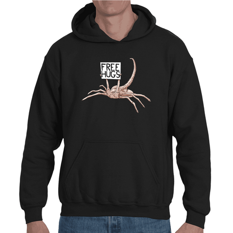 Hooded Sweatshirt Alien Free Hugs - Sheepbay